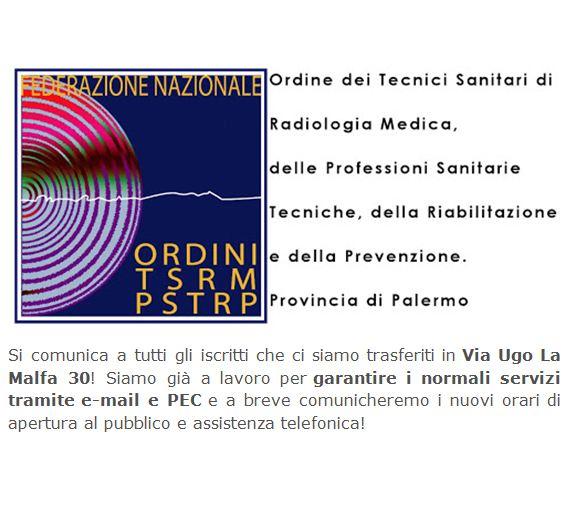 Ordine TSRM e PSTRP Provincia di Palermo